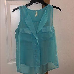 aqua shirt ( see thru )